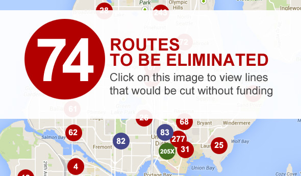 74 routes to be eliminated
