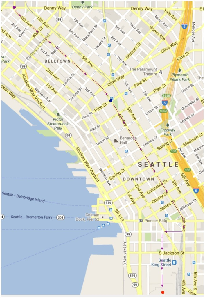 Parade route for the Seahawks Welcome Home celebration, February 5th