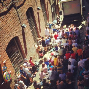 World Cup viewing in Nord Alley