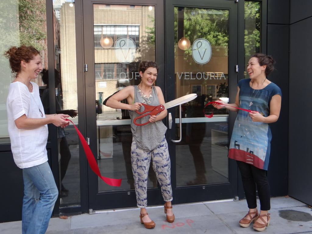 Velouria's ribbon cutting